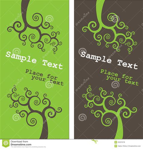 green themed business card template floral theme business card template royalty free stock