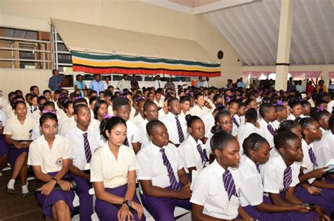 Granger College by Granger Visits President S College Stabroek News