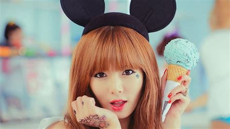 hyuna tattoo ice cream hyuna ice cream hyuna wallpaper 33911460 fanpop