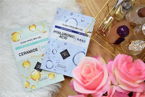 Etude House 02 Therapy Air Mask Hyaluronic Acid review etude house 0 2 therapy air masks ceramide and