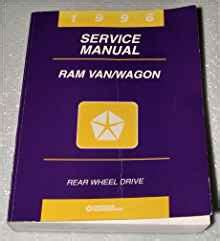 book repair manual 2002 dodge ram van 3500 parking system 1996 dodge ram van wagon factory service manual 1500 2500 3500 chrysler corporation amazon