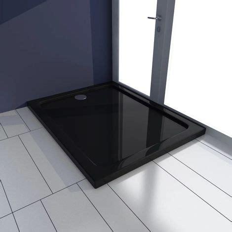 piatto doccia 90 x 70 piatto doccia rettangolare in abs nero 70 x 90 cm