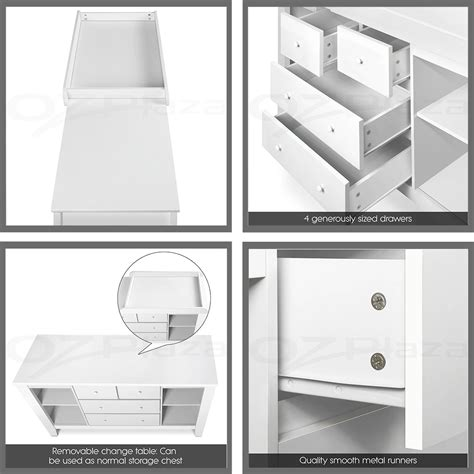 nursery chest of drawers australia change table baby chest of drawers dresser cabinet changer