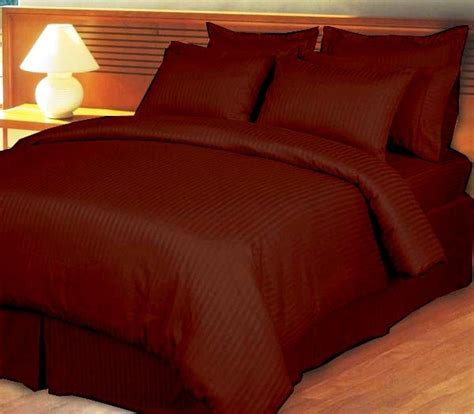 ultra soft cotton striped coffe king size bed sheet  ibed  piece set price review  buy