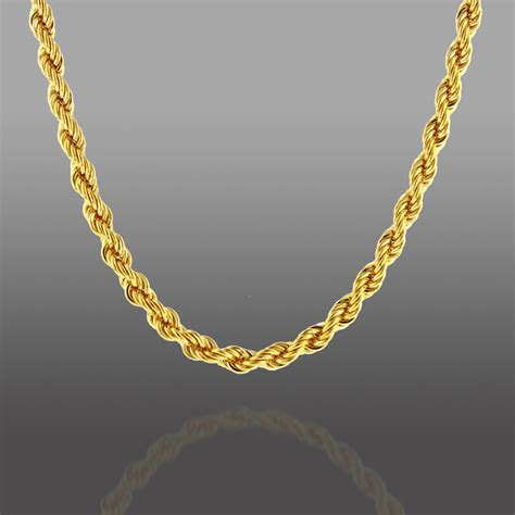 jewelry chain gold bronze twisted rope necklace jewelry