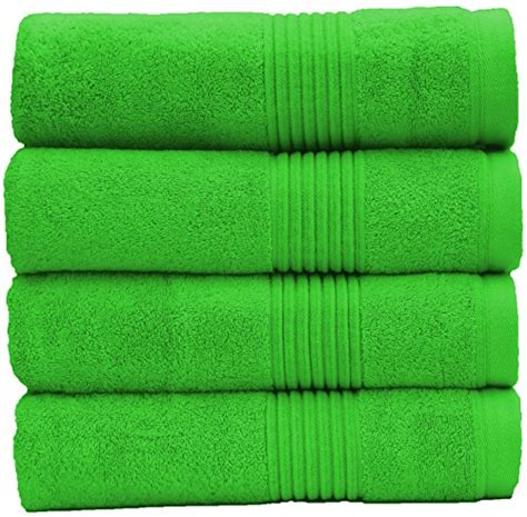 Green Bay Cotton Combed 30s Reaktif luxury hotel spa turkish combed cotton 30 215 54 large 4 bath towel set for maximum