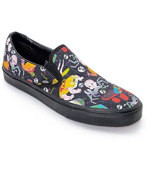 zumiez shoes for story x vans classic slip on mutant print shoes mens