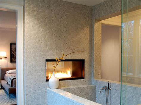 Fireplace In Bathroom Wall fireplace on glass tile fireplace fireplace