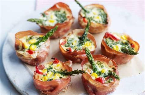 mini canape ideas 50 and easy canapes mini parma ham veggie