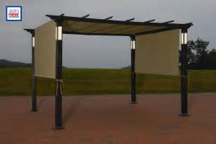 Steel Pergola With Canopy by Garden Oasis Arched Steel Pergola Make Your Garden An
