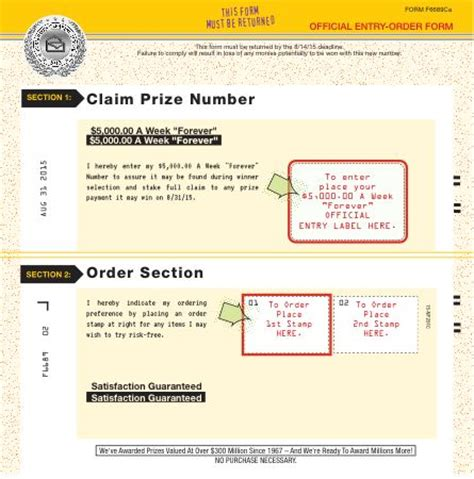 Pch Com Entry - winning number notification plan entry order form my pch