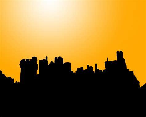 Castle On A Cloud Castle Silhouette At Sunset Free Stock Photo Public