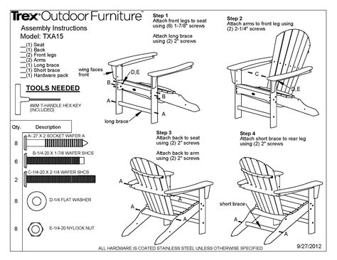 upholstery instructions cape cod adirondack chair trex 174 outdoor furniture