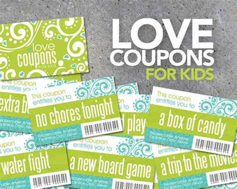printable love coupons for birthday love coupons for kids printable instant download