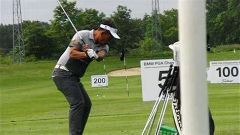 golf short swing thongchai jaidee golf swing short iron down the line