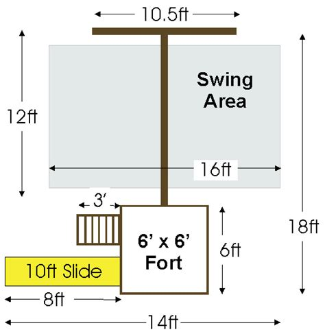 swing set height trailblazer swing set fort kit easy to build