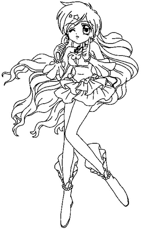 mermaid melody coloring pages coloringpagesabc com
