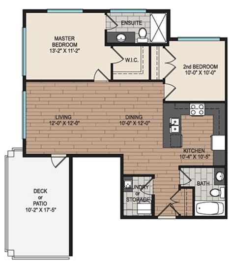 corner suite floor plan corner two bedroom with grand patio waterstone