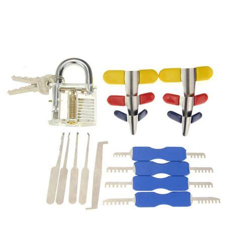 20psc Sided Padlock Picks Door Lock Opener Locksmith Tool by Other Locks Remotes Practice Padlock Single