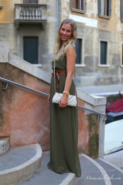 Maxi Green Mona army green maxi dress mona s daily style