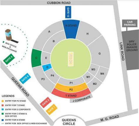 layout view c m chinnaswamy stadium bangalore seating arrangement
