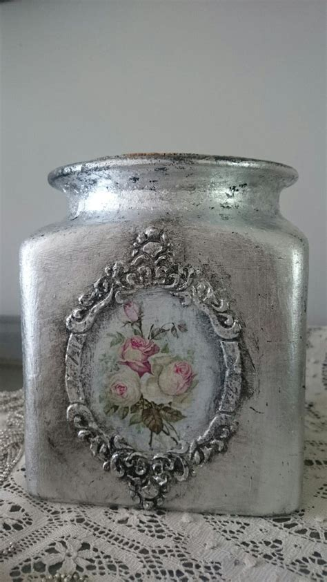 Decoupage On Glass Jars - 1356 best botellas latas y tarros images on