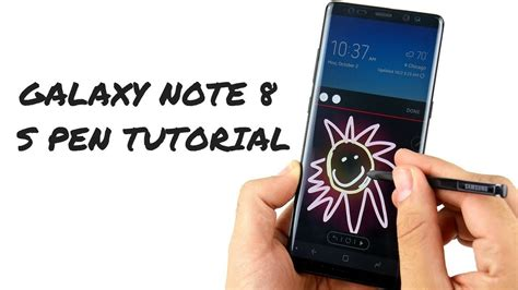 tutorial samsung note 8 samsung galaxy note 8 s pen tutorial youtube