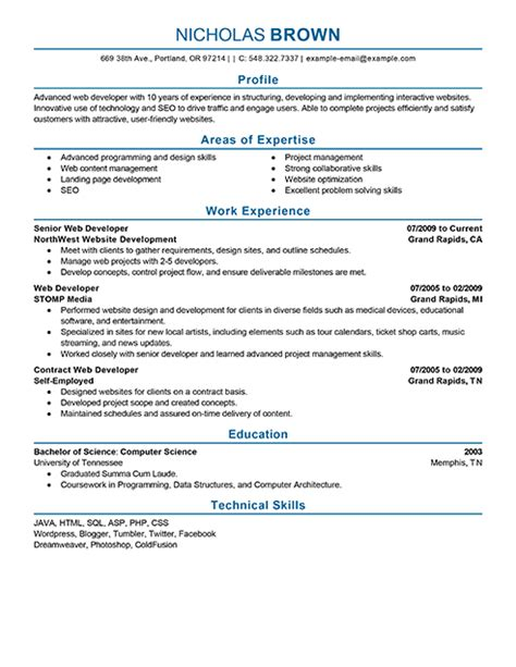 best it web developer resume exle livecareer