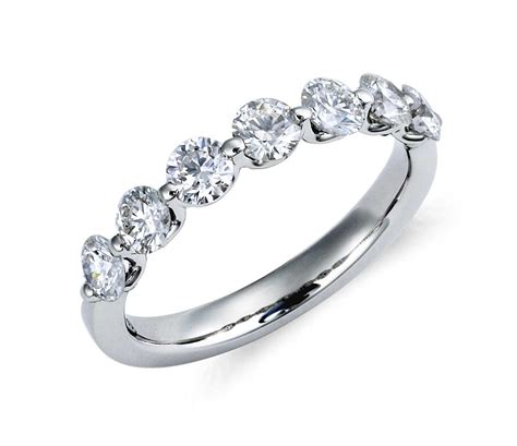 diamonds rings classic floating ring in platinum 1 ct tw