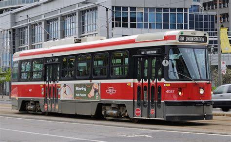 toronto trolleys and buses on toronto streetcar system