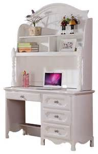 Kids White Desk by Homelegance Hayley 4 Drawer Kids Desk With Hutch In White