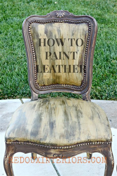 How To Paint A Leather yep it s leather and i painted it