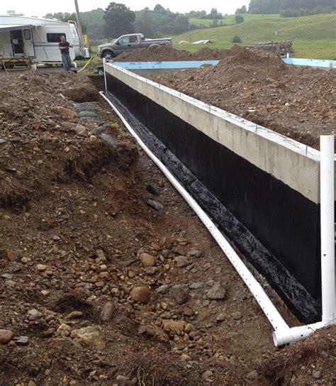 foundation coating and perimeter drain the sun