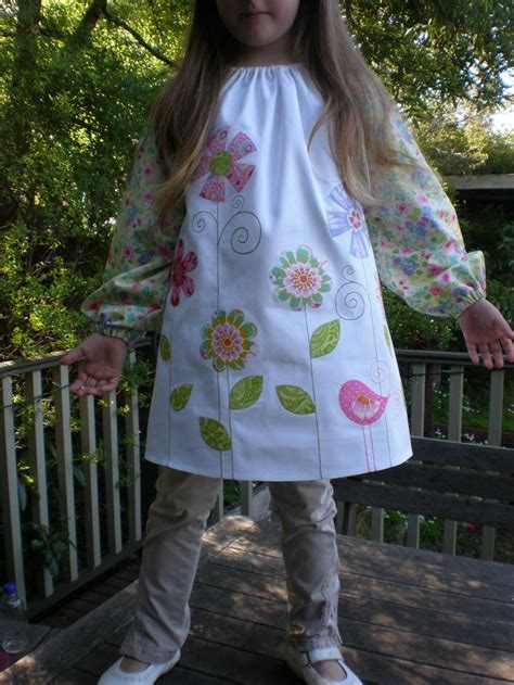 pattern for an art smock kids art smock crafty things pinterest