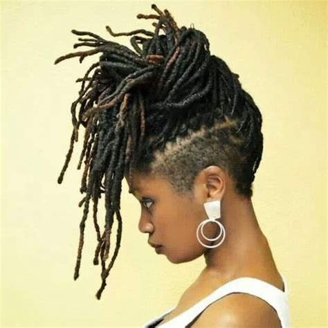 back of head shaved sides dreads 17 best images about locks twists braids on pinterest