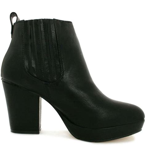 buy tammy block heel platform chelsea ankle boots black