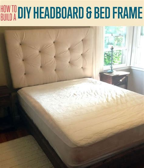 Do It Yourself Platform Bed Frame How To Build A Diy Upholstered Headboard And Bed Frame Diyready Easy Diy Crafts