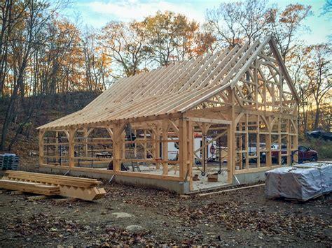 post beam workshop raising day  barn yard great