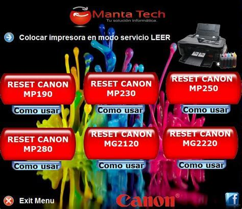 reset mp230 resetear recopilaci 243 n de varios reseteadores para impresoras canon