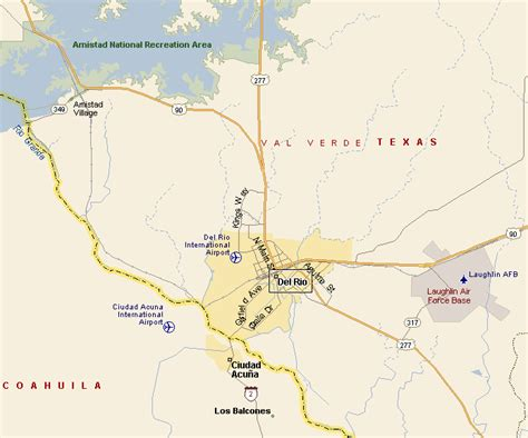 langtry texas map texas map my