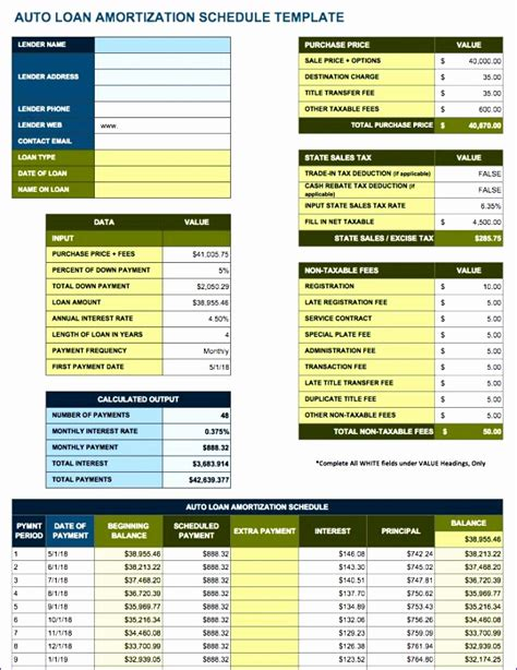 8 Amortization Schedule Excel Template Exceltemplates Exceltemplates Free Prepaid Expense Schedule Excel Template