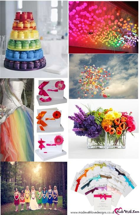25  best ideas about Rainbow wedding decorations on