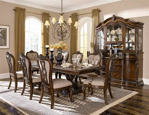 formal dining room sets how elegance is made possible bonaventure dining gold highlighted cherry bestbuy