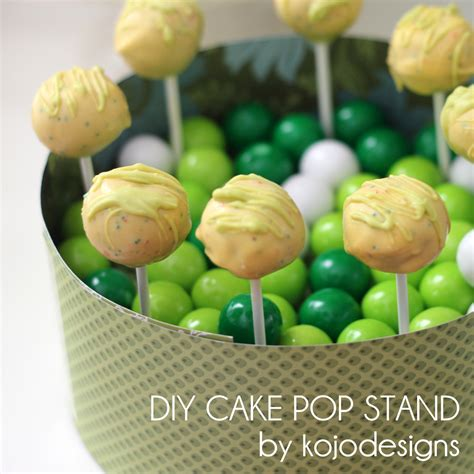 cake pop holder diy kojo tutorial diy cake pop stand