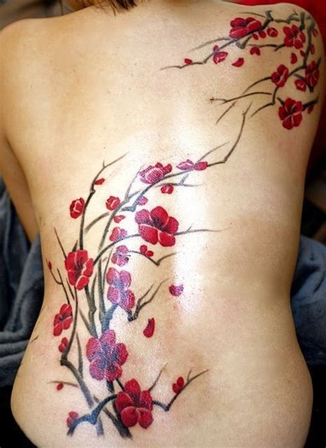 tattoo back spring watercolor tattoo admirable spring cherry watercolor
