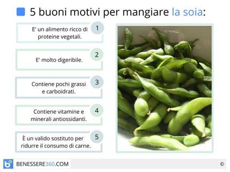 kcal degli alimenti soia propriet 224 calorie valori nutrizionali e