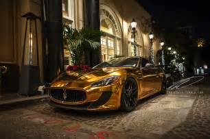 Maserati Granturismo Gold Gold Maserati Granturismo Madwhips