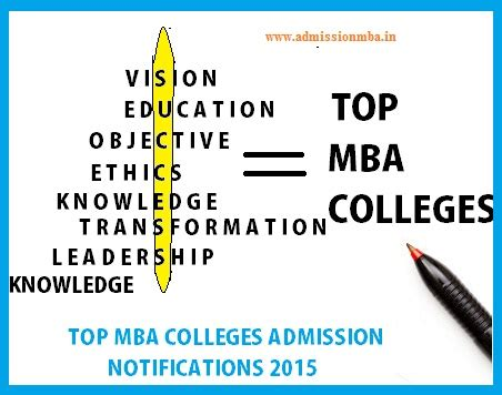 Mba College Admission top mba colleges admission notifications mba notification