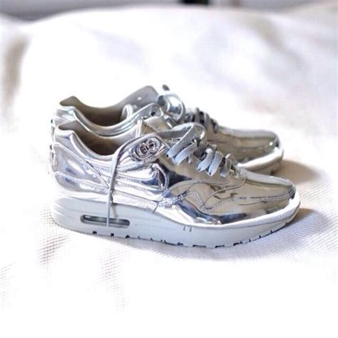metallic sneaker shoes nike nike sneakers metallic silver shoes silver