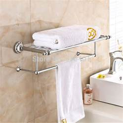 Modern Bathroom Towel Holder Wholesale And Retail Promotion Modern Luxury Chrome Brass